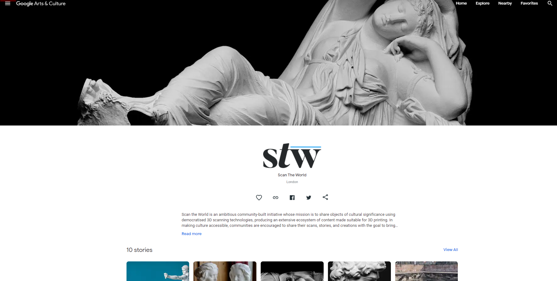 The partnership will see the data archived on Google Arts & Culture become viewable in 3D, with STL files available for download via Scan the World. Photo via Scan the World.