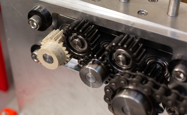Z-PEEK is strong enough for gears operating at high speeds under significant loads. Photo via Zortrax.