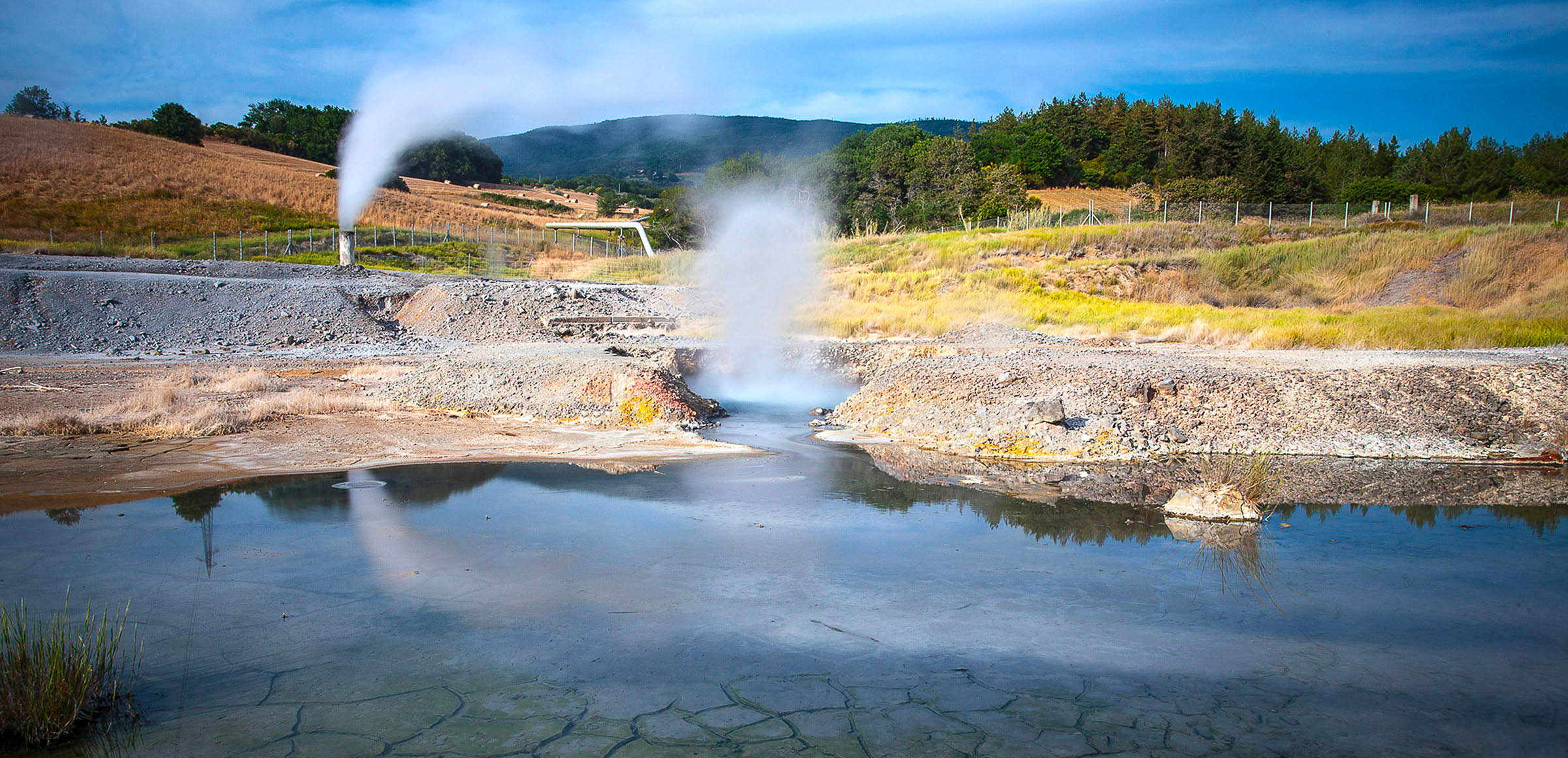 A geothermal power plant in Italy. Photo via Enel Green Power.