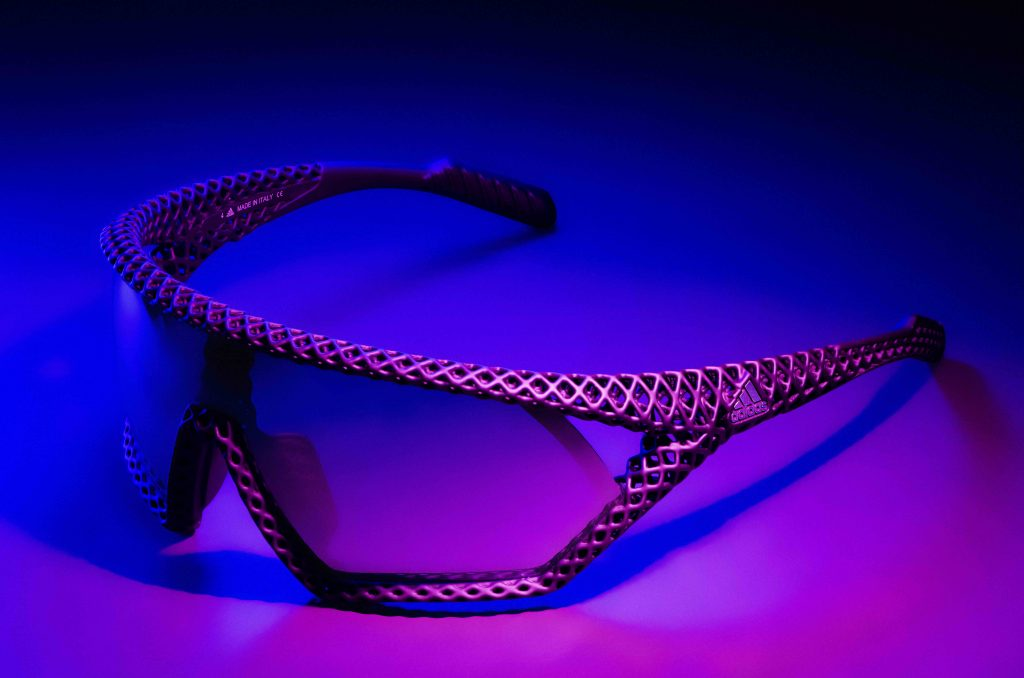 Only 150 pairs will be 3D printed, and the glasses will retail for $415. Photo via Adidas.